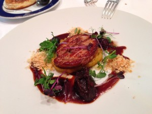 Seared foie gras from upstate.