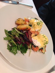 Beautiful eggs benedict.