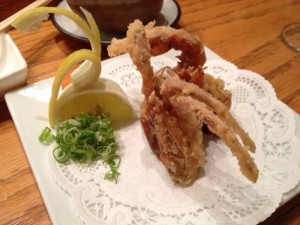 Soft-shell crab, right in season.