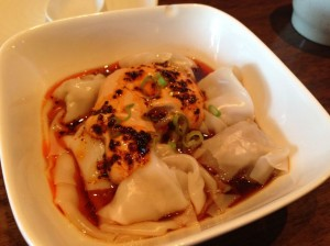 Wontons in red oil.