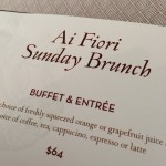 Sunday Brunch at Ai Fiori